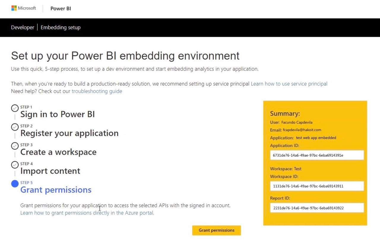 Power BI Embedded for clients